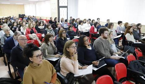 Imatge del públic assistent a una de les conferències.