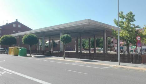 L'estructura que acollirà la nova biblioteca de Torrefarrera.