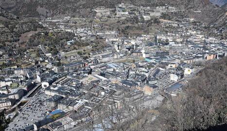 Andorra la Vella, en una imatge d'arxiu