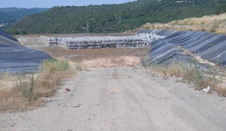 Les instal·lacions de l'abocador comarcal a Clariana de Cardener.