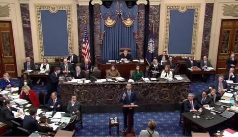 Imatge del Senat dels EUA, durant el ple d'ahir.
