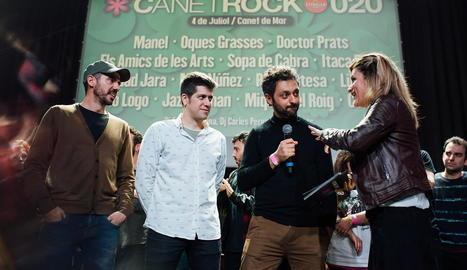 La banda, en la presentació del Canet Rock la setmana passada.
