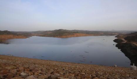 El pantà de l'Albagés ha augmentat les reserves en tres dies procedents del riu Set.