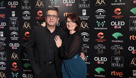 Foto de família amb tots els nominats de la 34 edició dels premis Goya, que s'entregaran aquesta nit en una gala celebrada al Palacio de los Deportes de Màlaga.