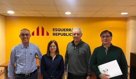 Reunió ahir del CSIF amb la senadora d'ERC Sara Bailac.