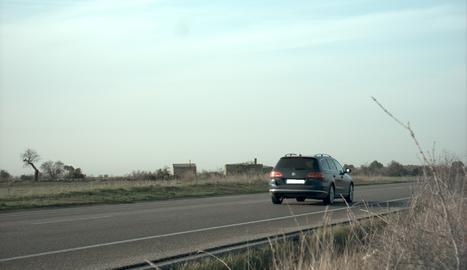 El vehicle infractor, capturat per la càmera del radar de la policia.