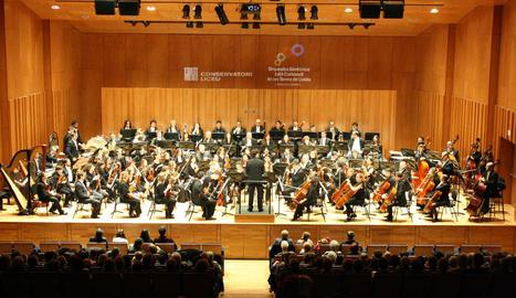L'OJC de Lleida va oferir un concert diumenge a l'Auditori del Conservatori del Liceu.