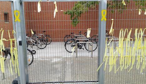 El pàrquing tancat per a bicicletes del campus d'Agrònoms.