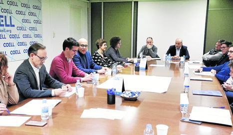 La reunió d'ahir del comitè executiu del Gremi de Constructors amb Toni Postius.