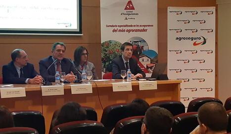 Foto de la jornada sobre assegurances organitzada per Actelgrup, ahir.