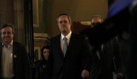 Joaquim Forn, en la seva arribada al Parlament