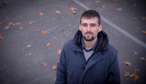 El filòleg i traductor lleidatà Arnau Barios, en una visita recent a Lleida.