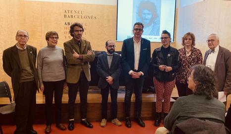 L'Ateneu Barcelonès, a la capital catalana, va acollir ahir l'acte inaugural de l'Any Joan Barceló.