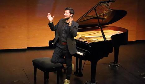 Marco Mezquida va inaugurar ahir el cicle 'Audicions íntimes'.