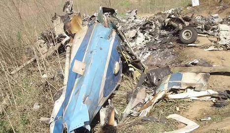 Imatge difosa pels investigadors on es veuen les restes de la tragèdia.
