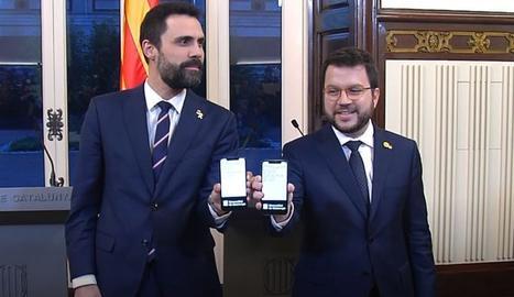 L'acte d'entrega del projecte de pressupostos de la Generalitat al Parlament.