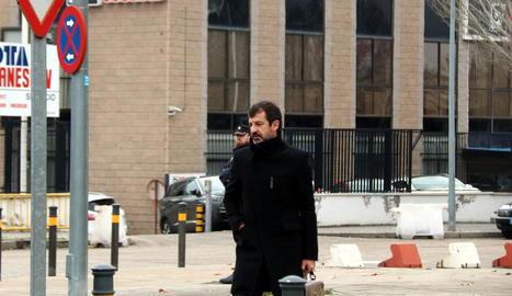 El comissari dels Mossos Ferran López, ahir, a l'arribar a l'Audiència Nacional.