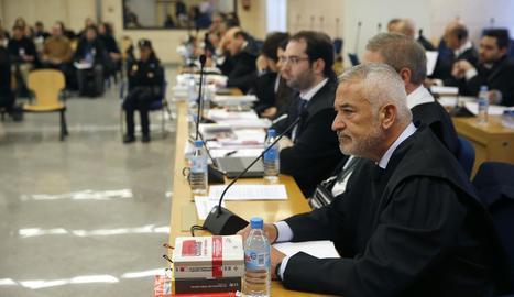 L'expresident d'Ausbanc durant la sessió d'ahir.