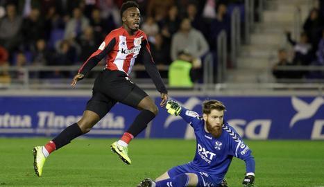Iñaki Williams, dimarts durant el partit de Copa a Tenerife.