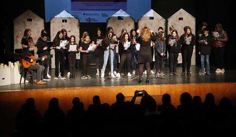 L'acte dels instituts es va celebrar al Teatre de l'Escorxador.