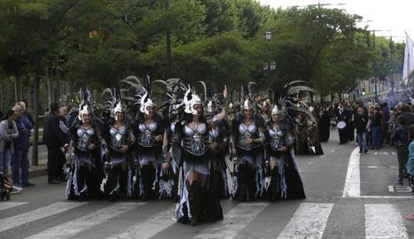 Desfilada l'any passat de la Festa de Moros i Cristians de Lleida.