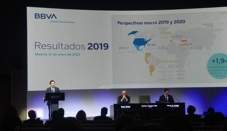 Un moment de la presentació de resultats de BBVA.