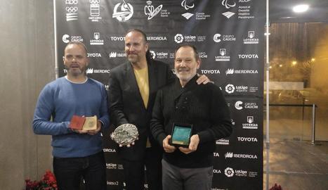 Representants dels tres clubs premiats.
