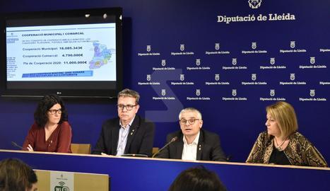 L'acte de presentació del projecte de pressupostos de la Diputació de Lleida per al 2020.