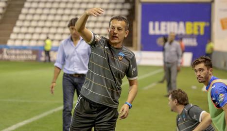 Horacio Melgarejo, durant la seua etapa com a segon entrenador al Lleida Esportiu.