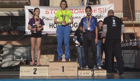 Clàudia Sánchez, bronze al Campionat de Catalunya sub-16 de Marxa Atlètica