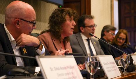 La consellera d'Agricultura, Teresa Jordà, durant comissió parlamentària aquest dimarts.