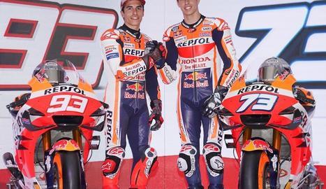 Marc i Àlex Márquez, presentats oficialment companys d'equip