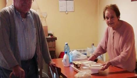 Usuaris del servei de menjador a domicili de Bellaguarda.