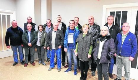 Imatge de la reunió d'alcaldes i regidors a Agramunt.