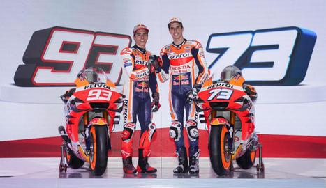 L'equip Repsol Honda de MotoGP es va presentar ahir a Jakarta abans d'afrontar els primers test oficials al circuit de Sepang.