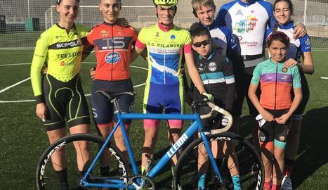 Ciclistes lleidatans que van competir a Horta.