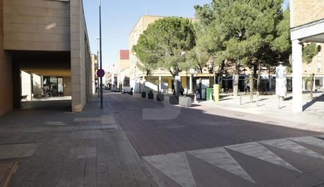 El tram que l'entitat veïnal vol convertir en zona de vianants.