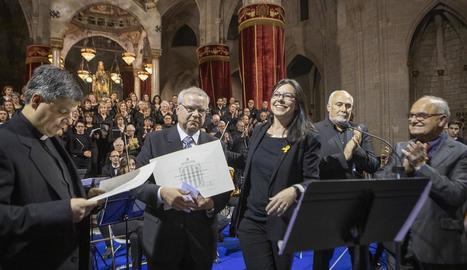 L'església de Santa Maria es va omplir de gom a gom per escoltar el tradicional oratori.