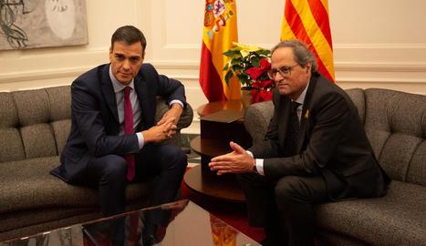 Torra i Sánchez es van reunir el desembre del 2018 a Barcelona i després es va refredar la seua relació.