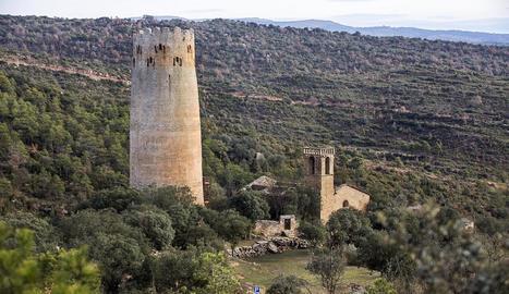 Imatge de la torre de Vallferosa, a Torà.