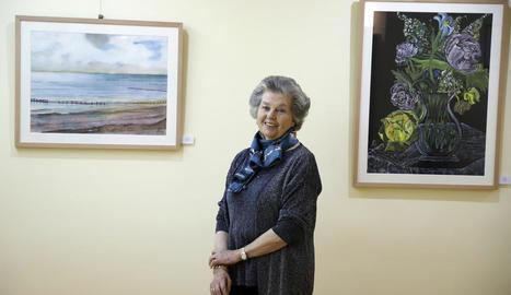 Anna d'Orleans, ahir en la inauguració de l'exposició a Le Petit Atelier de Lleida.