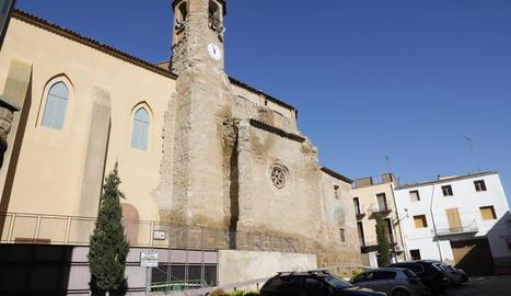 L'església de Nostra Senyora de la Purificació d'Algerri, clausurada des de l'abril del 2018.
