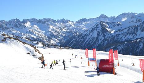 Esquiadors aquesta setmana a Baqueira Beret.