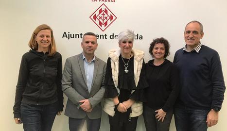 La Paeria rep el CB Lleida i el CT Urgell