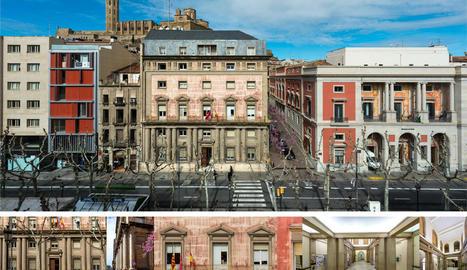 Façana de l'antiga Audiència a la rambla Ferran, edifici que ha d'acollir el Museu d'Art de Lleida.
