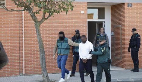 Imatge d'un dels detinguts a Torrefarrera.