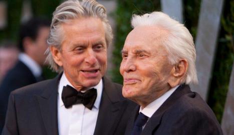Kirk Douglas i el seu fill Michael.