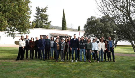 Imatge de família del Govern espanyol abans de la reunió a Quintos de Mora (Toledo).