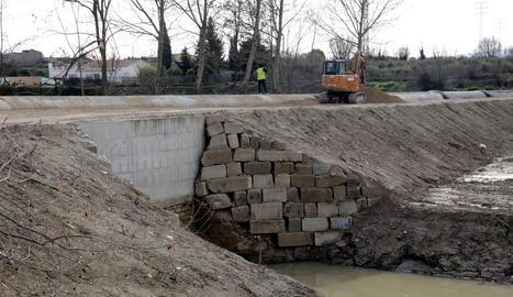 El Canal d'Urgell, a punt de finalitzar les obres de reparació dels danys dels aiguats de l'octubre