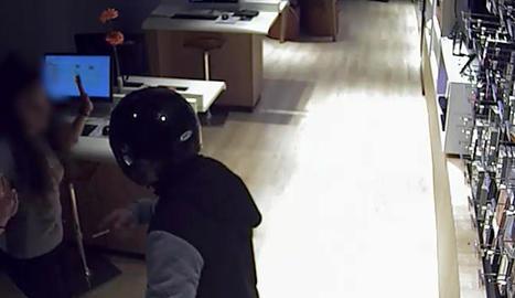 Imatge d'un dels atracaments violents.